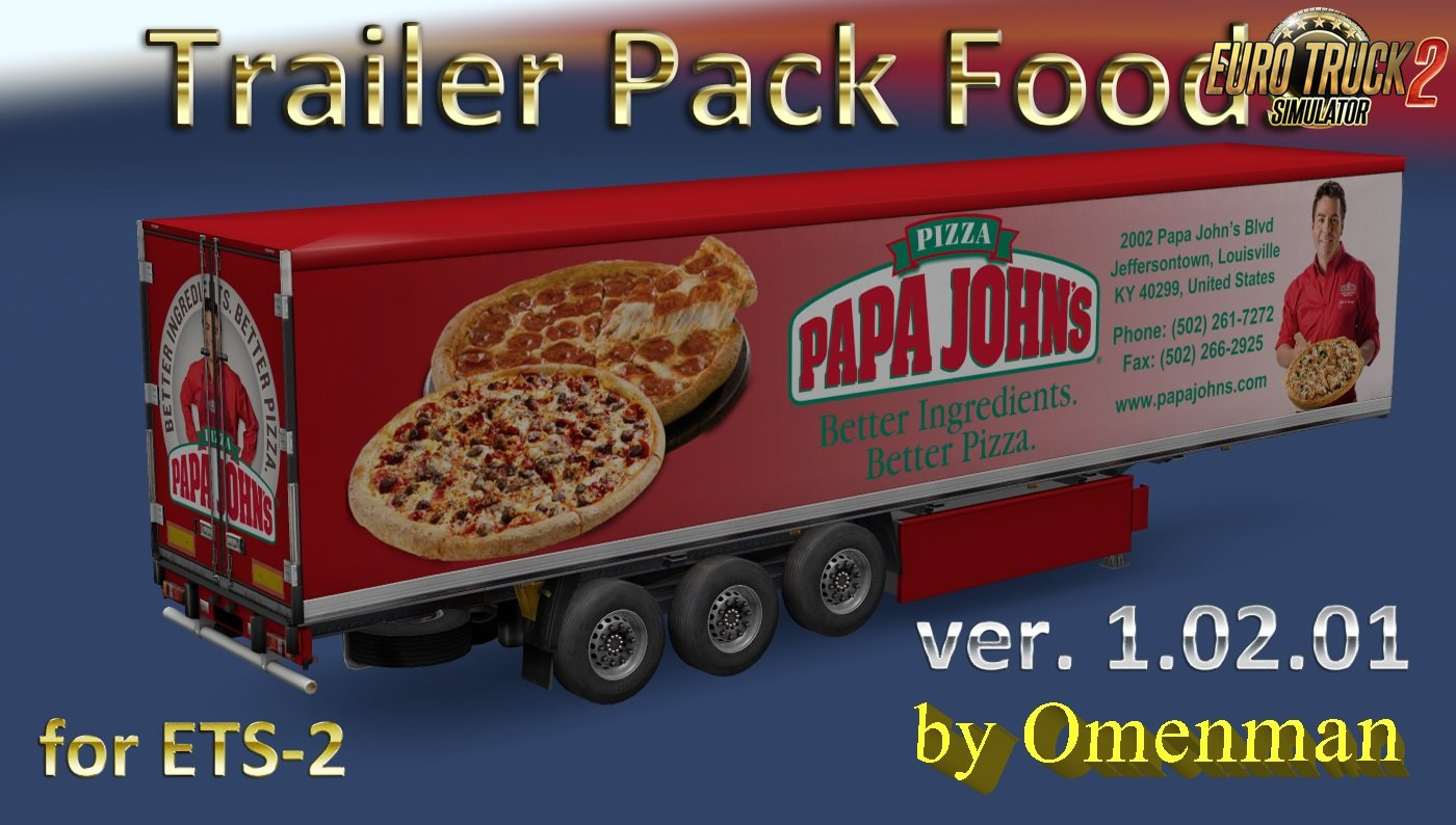 Trailer Pack Foods v1.02.01 for Ets2