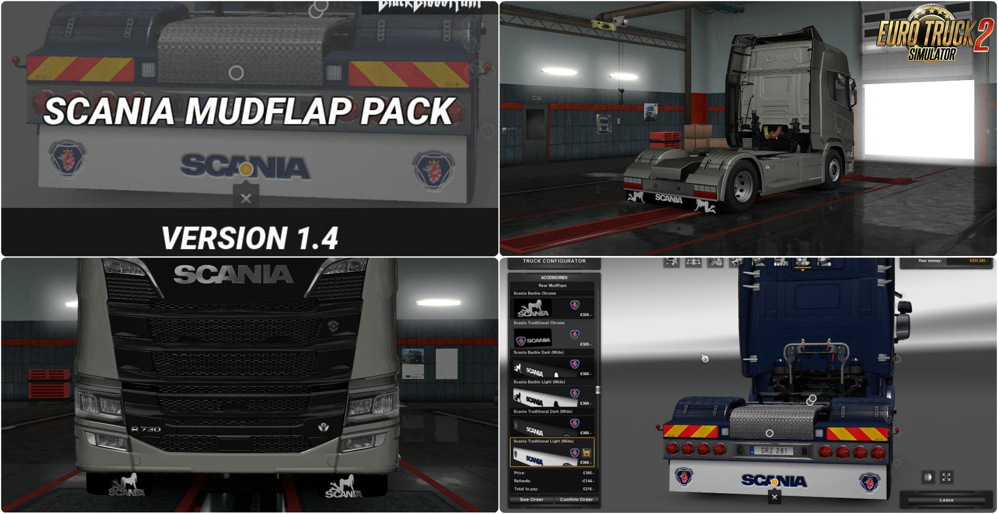 Scania Mudflap Pack v1.4 by BlackBloodRum (1.31.x)