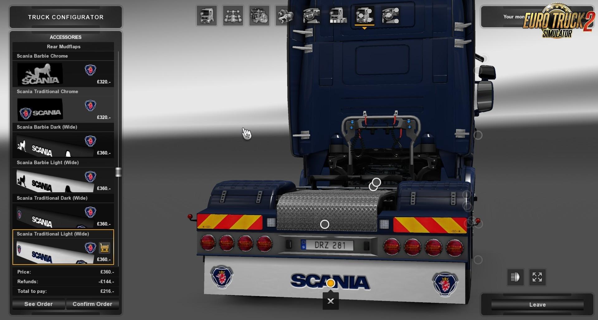 Scania Mudflap Pack v1.4 by BlackBloodRum (1.31.x)
