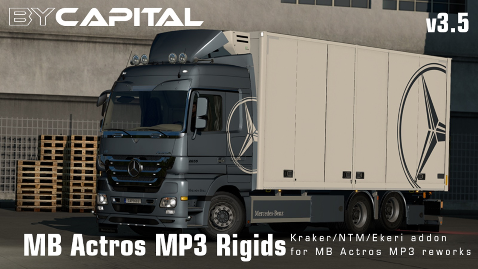 Rigid Chassis for Mercedes Actros MP3 Reworks v 3.5