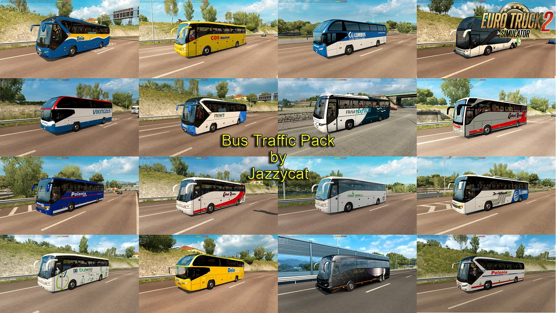 Bus Traffic Pack v4.4 by Jazzycat
