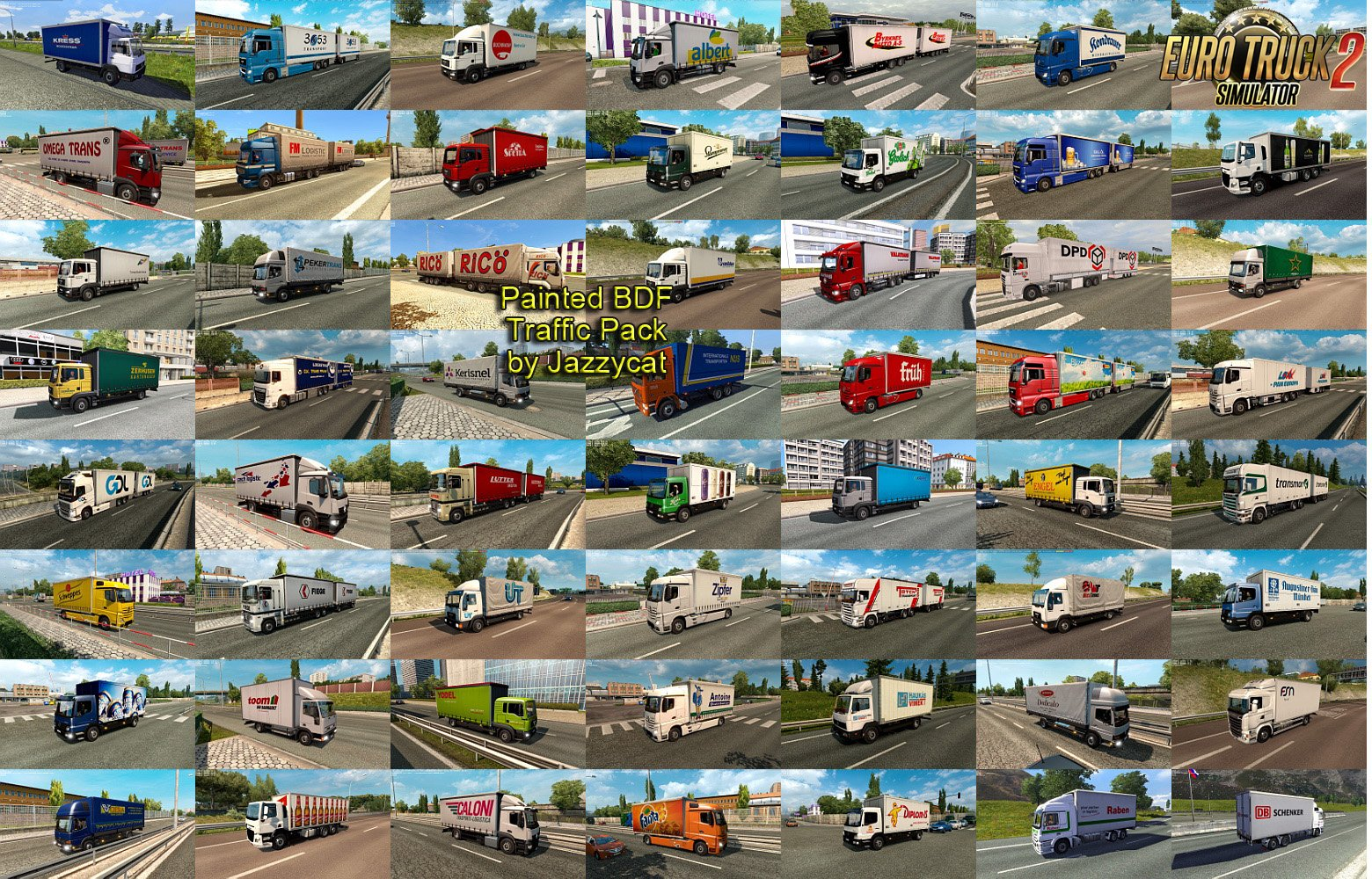 Painted BDF Traffic Pack v3.3 by Jazzycat (1.31.x)