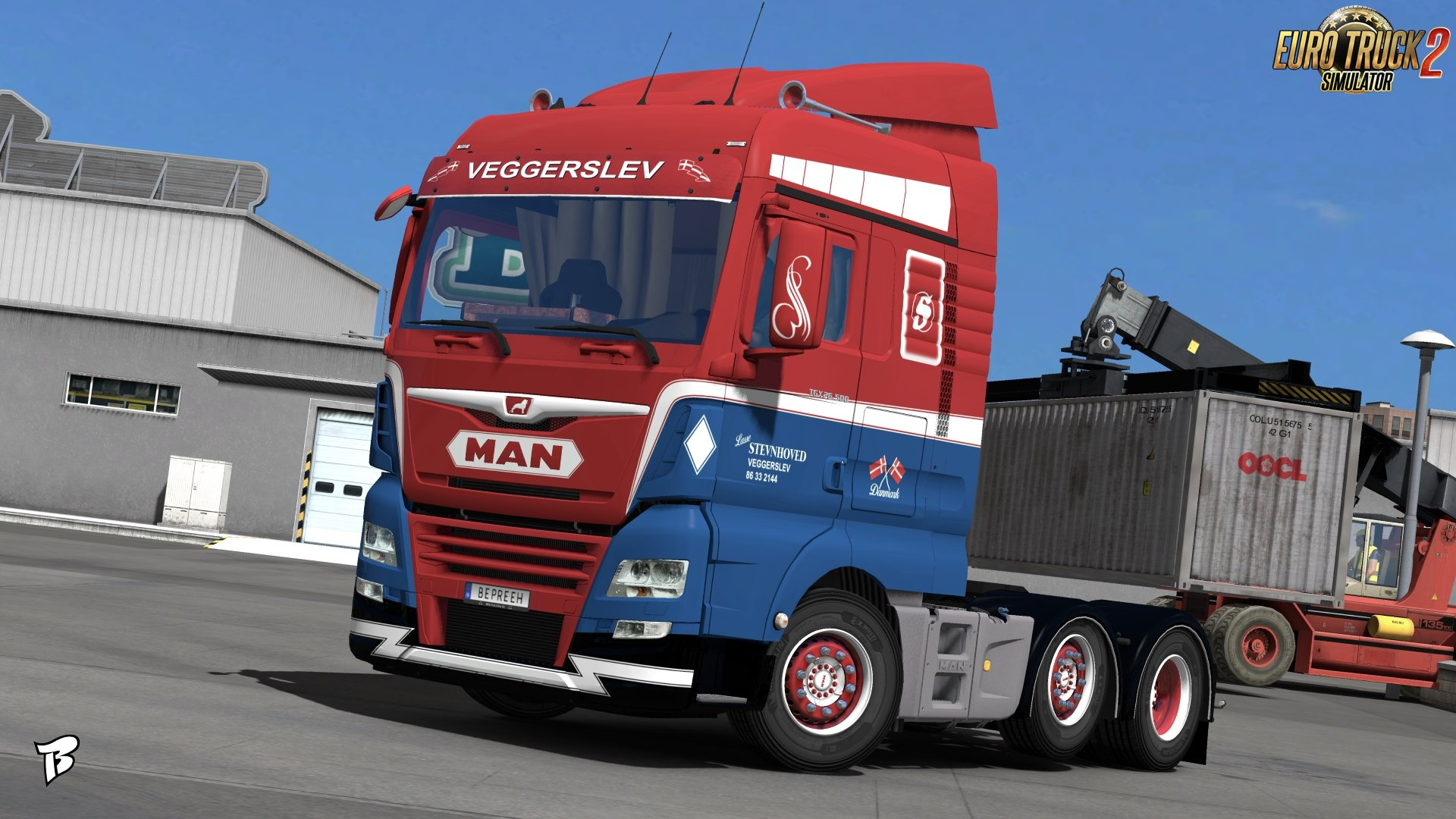 Stevnhoved Skin for MAN TGX Euro 6 v1.0 by Bepreeh (1.31.x)