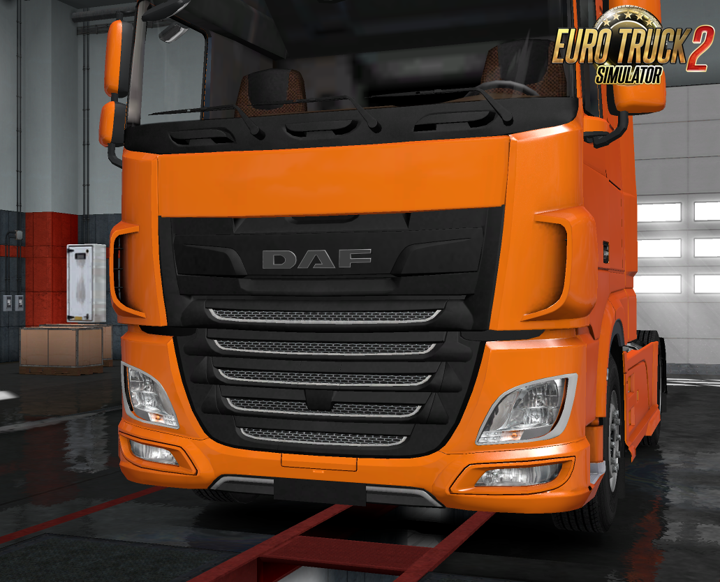 Daf XF Euro 6 Plastic Front Badge Plate by Mikoe