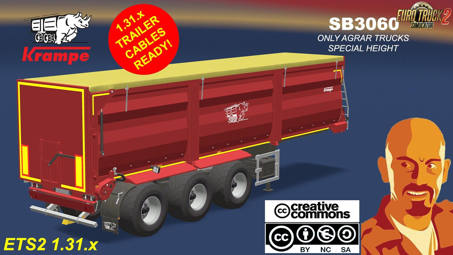 KRAMPE SB3060 Agrar Trailer for Ets2