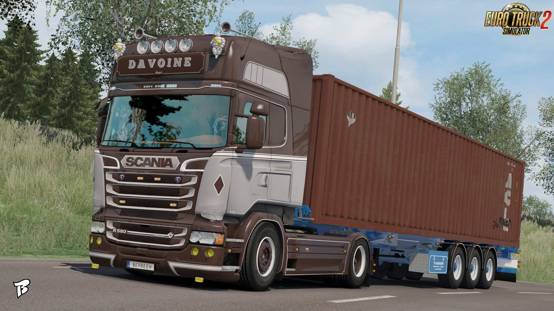Davoine Transport Skin for Scania RJL v1.0 by Bepreeh (1.31.x)