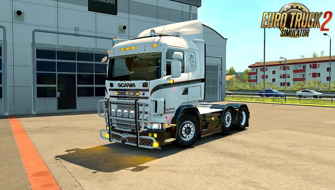 White V8 Skin for Scania 4 Series RJL v1.0 by ScaWeedania (1.31.x)
