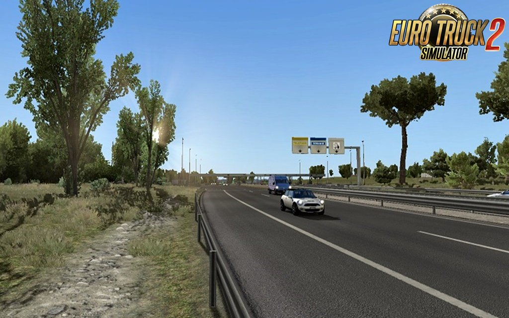 Clear Sky NO HDR weather mod for Ets2 by Piva