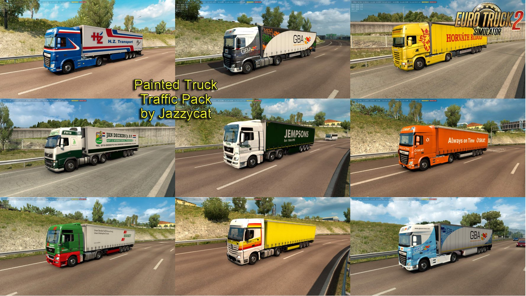 Painted Truck Traffic Pack v6.0 by Jazzycat