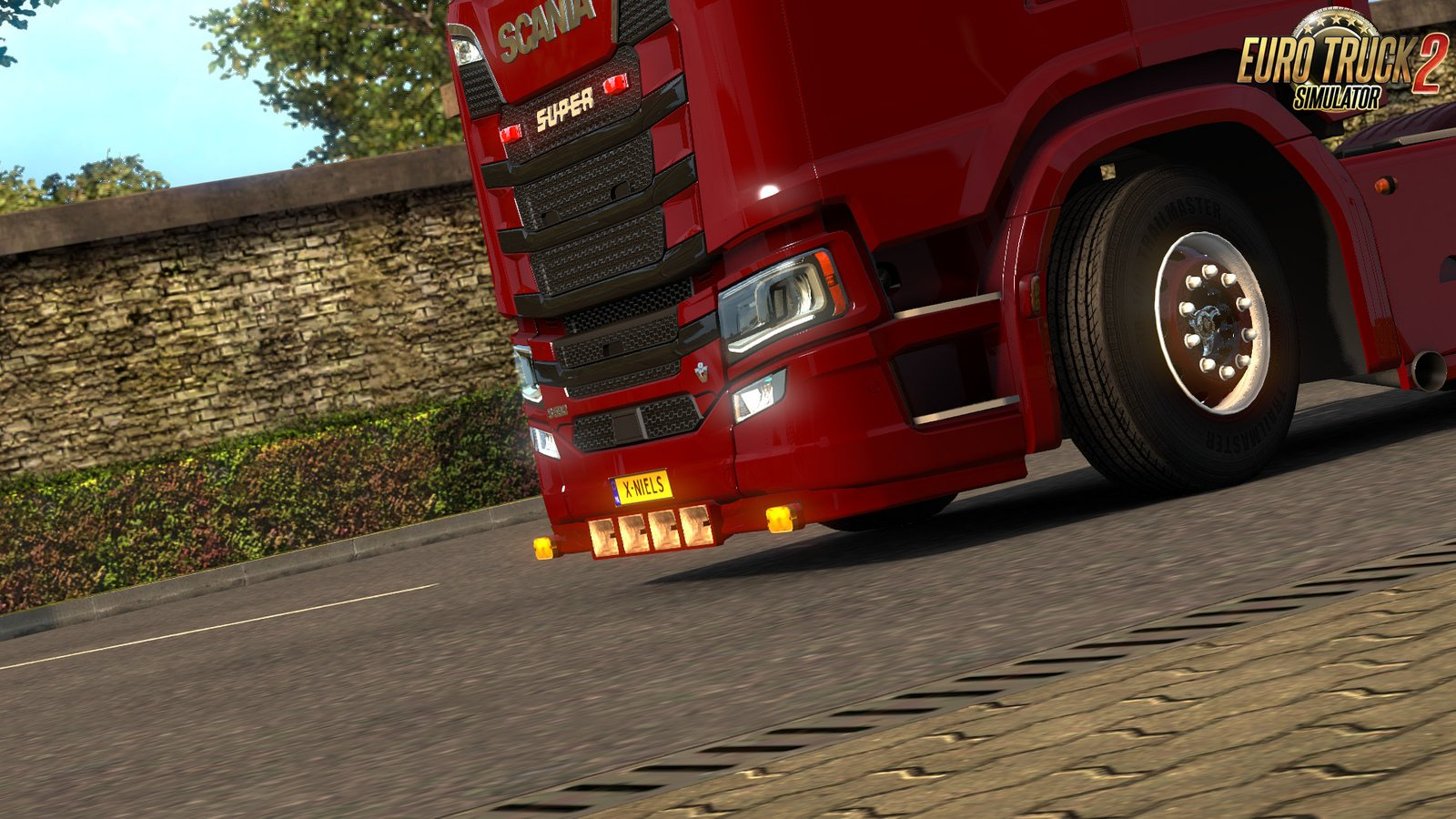Scania S/R Extended Front bumper for Ets2