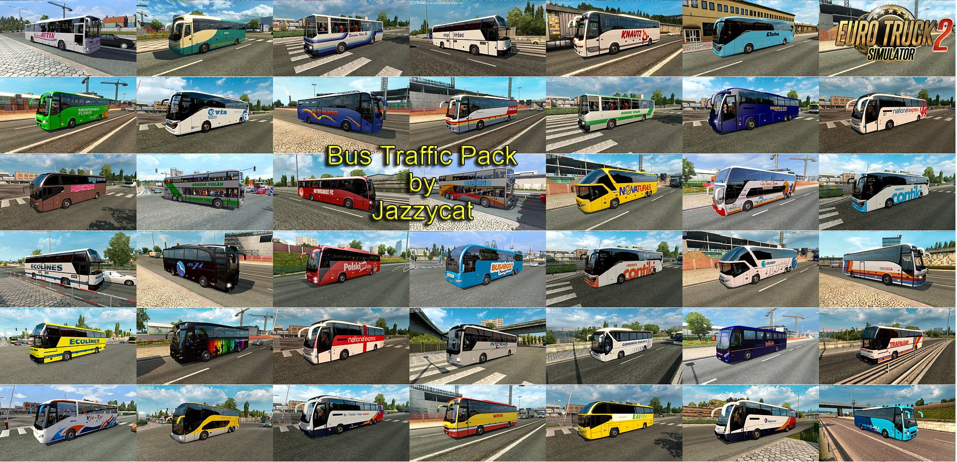Bus Traffic Pack v4.6 by Jazzycat