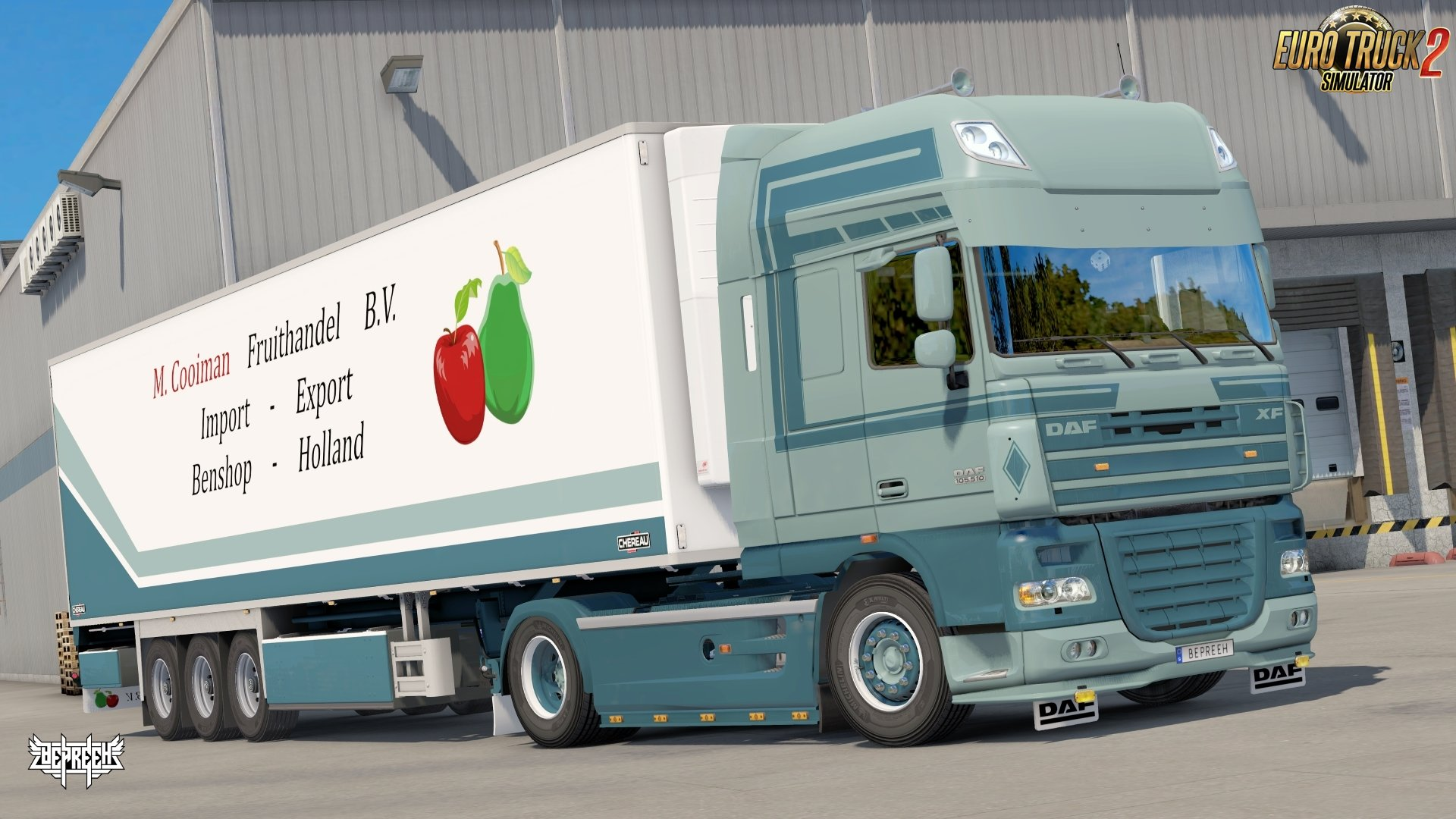 M. Cooiman Combo Pack Skin for DAF XF 105 + Trailer v1.0 by Bepreeh (1.31.x)