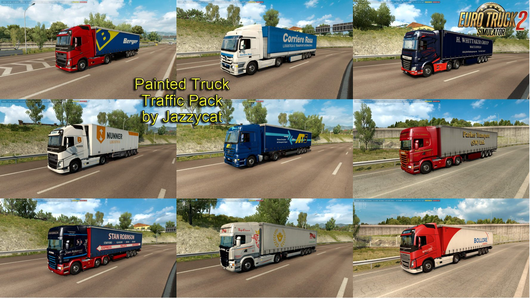 Painted Truck Traffic Pack v6.1 by Jazzycat
