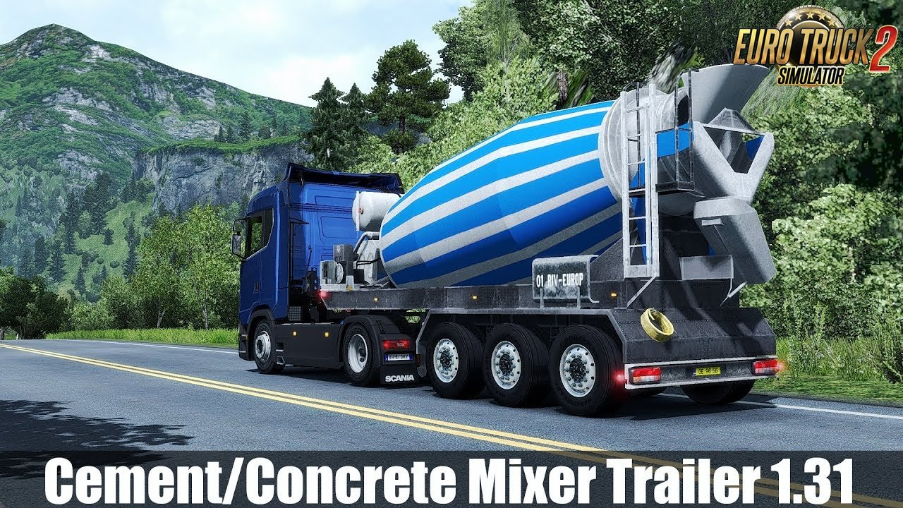 Cement Mixer Trailer 1.31 for Ets2