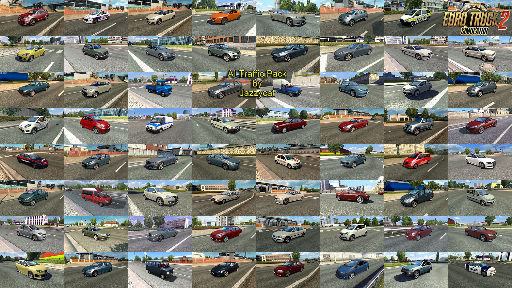 AI Traffic Pack v8.0 by Jazzycat