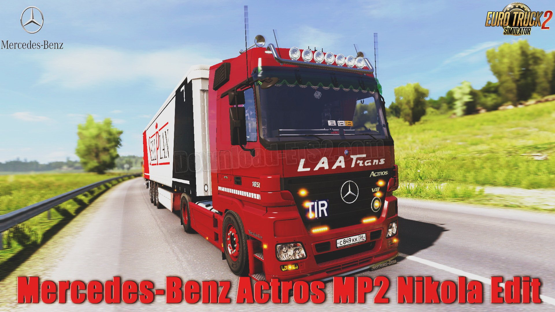 Mercedes-Benz Actros MP2 + Interior v8.0 Edit by Nikola (1.31.x)