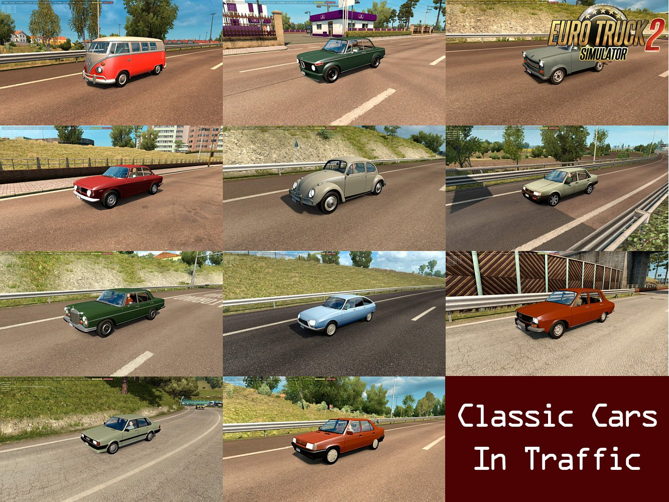 Classic Cars Traffic Pack v1.2 by TrafficManiac