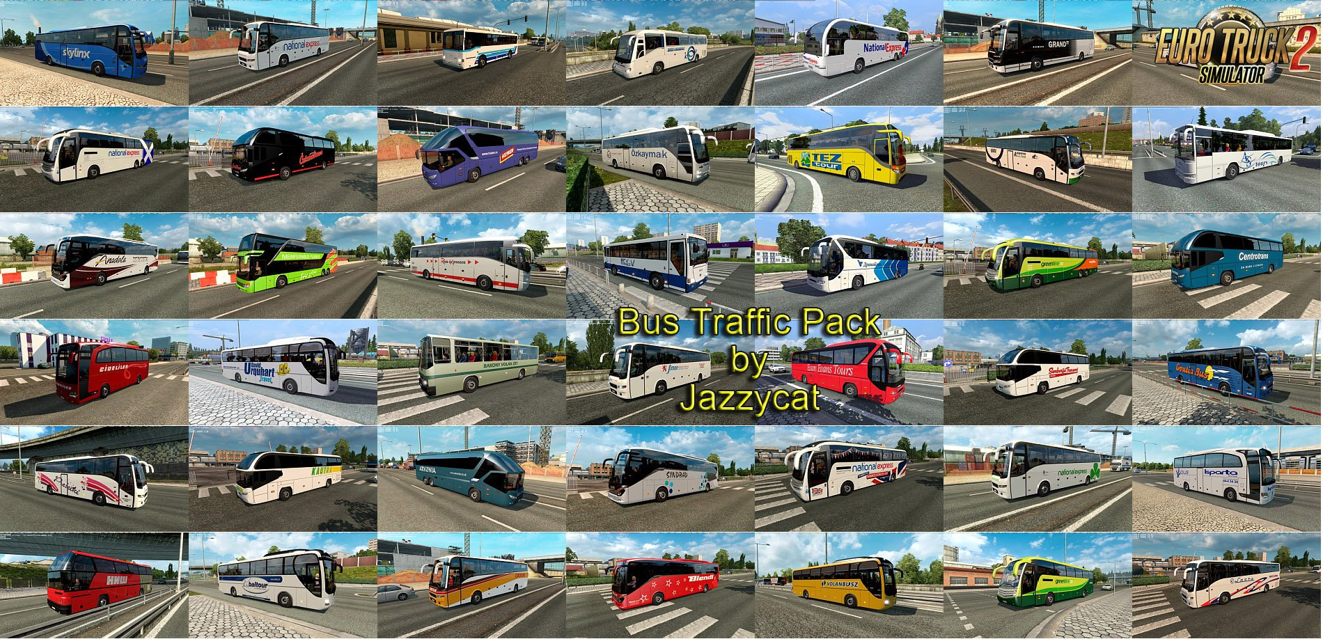Bus Traffic Pack v4.8 by Jazzycat