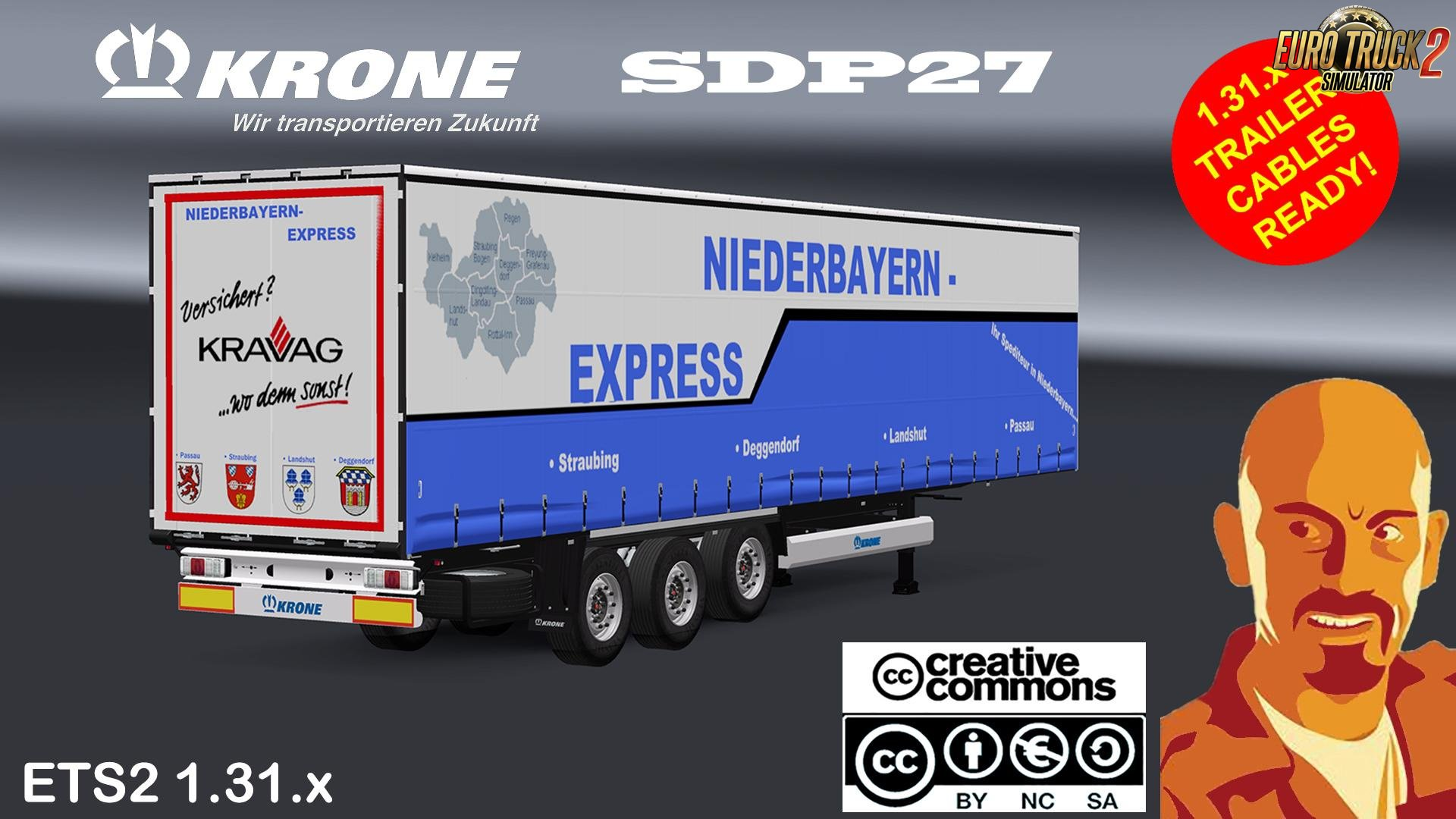 KRONE SDP27 Standalone Trailer for Ets2
