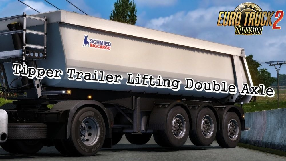 Tipper Trailer Lifting Double Axle for Ets2