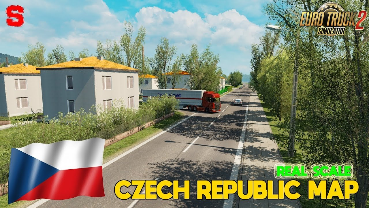 Czech Republic Map Real-Scale v1.8 (1.31.x) - Euro Truck Simulator 2
