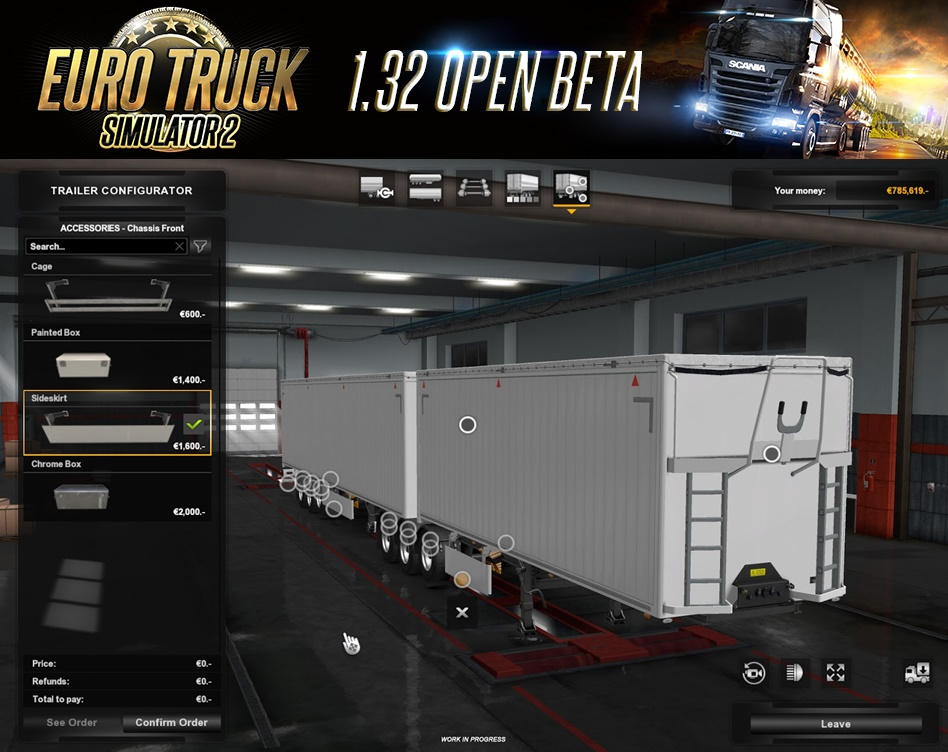 Euro Truck Simulator 2 Update 1.32 Open Beta