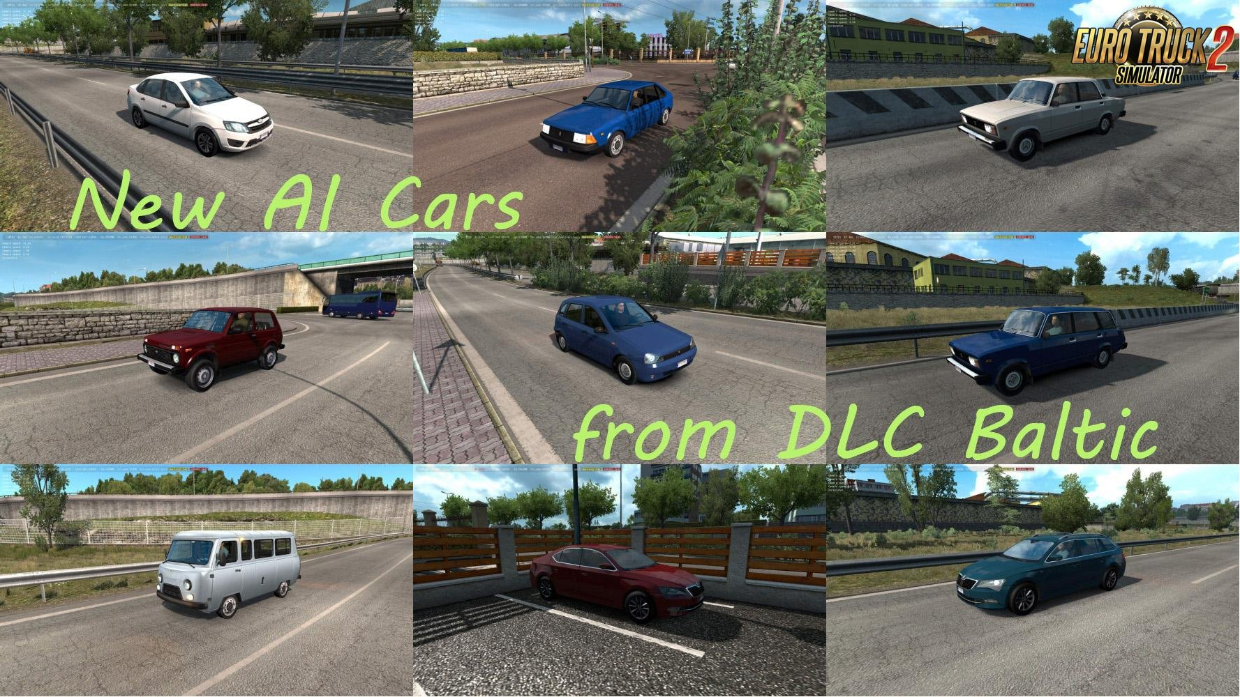 Unlocked new AI cars from DLC Baltic v1.0