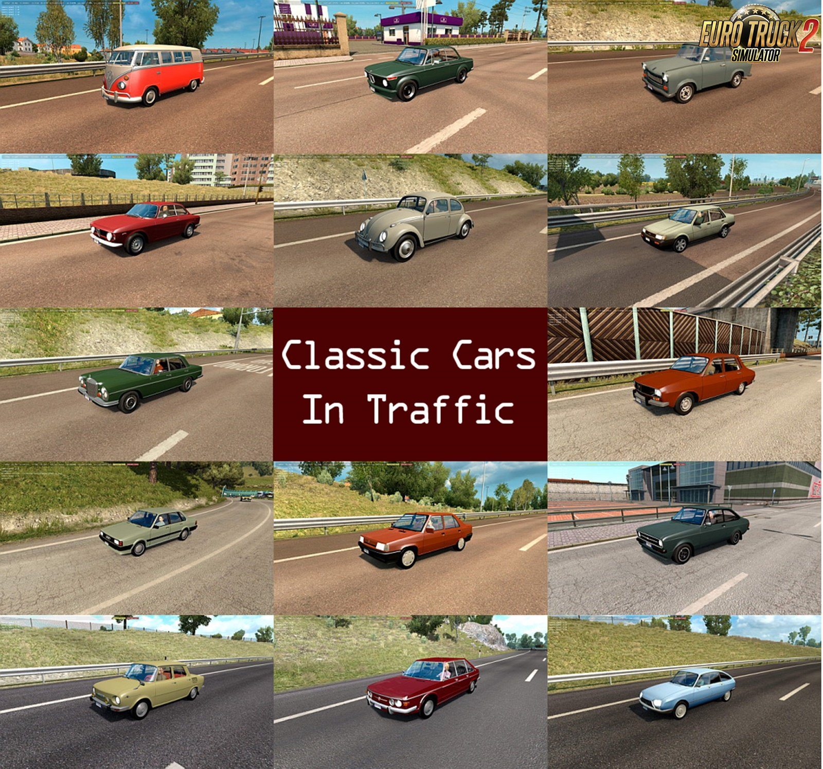 Classic Cars Traffic Pack v1.4 by TrafficManiac