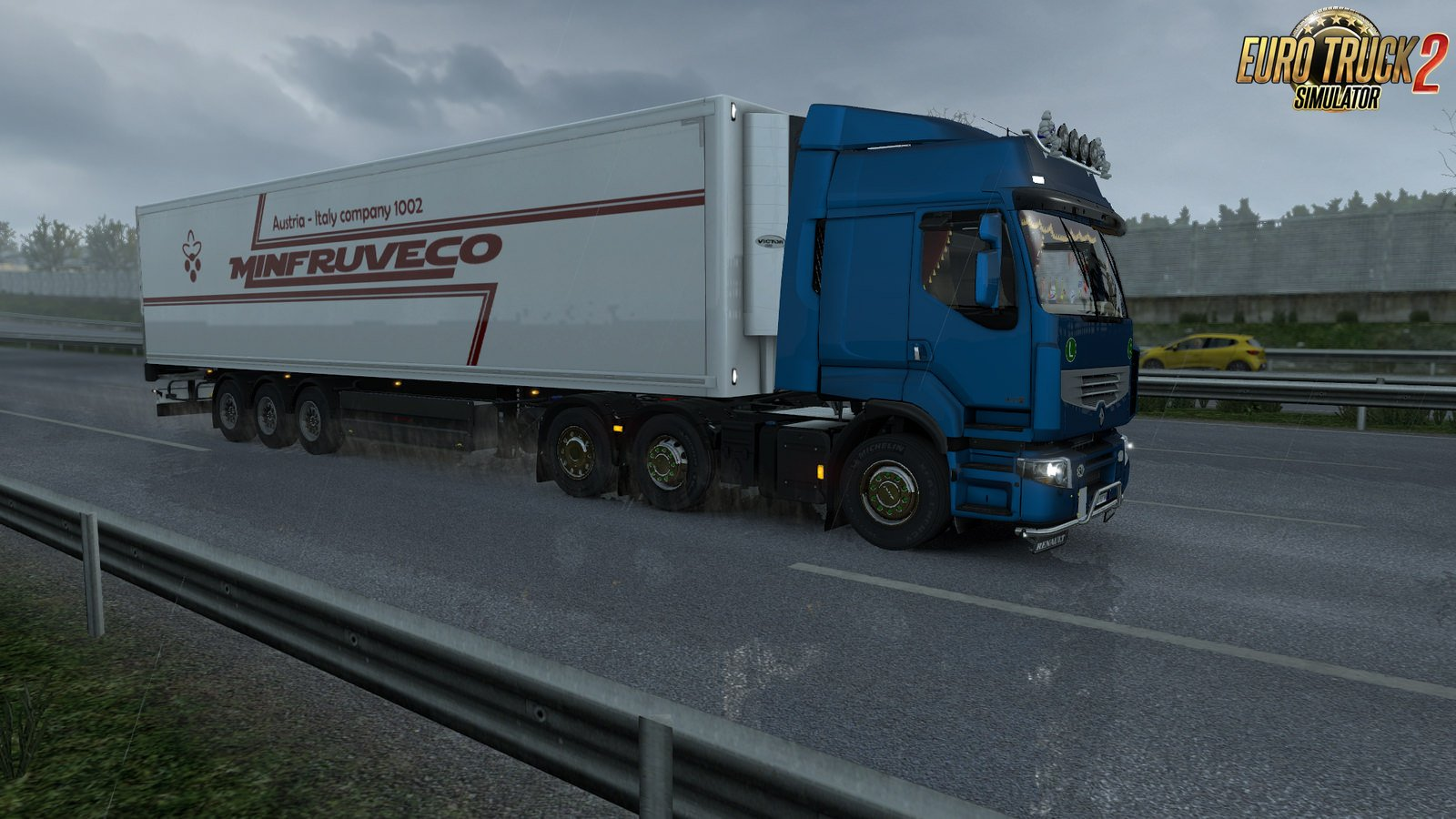 Renault Premium animated side curtains for Ets2