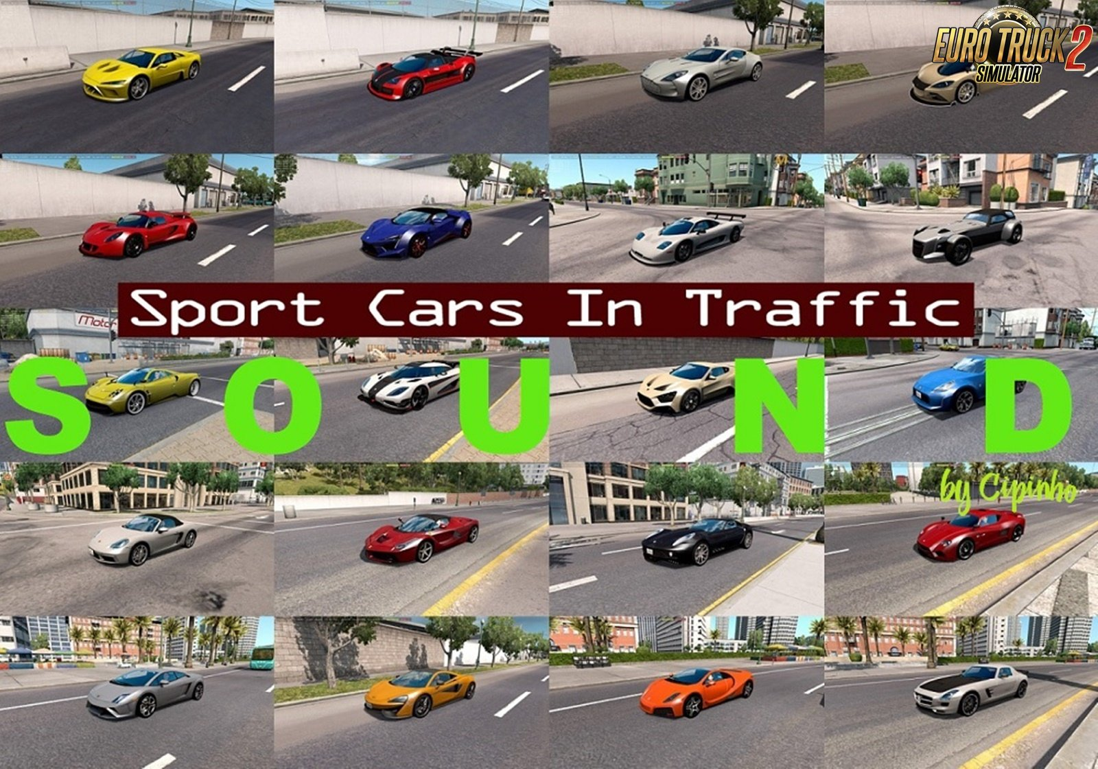 Sounds for Sport Cars Traffic Pack v3.5 by TrafficManiac