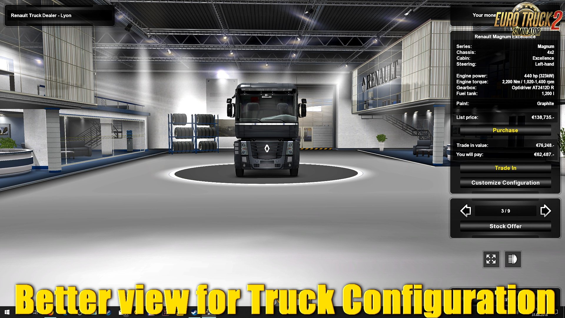 Better view for Truck Configuration v1.0 (1.32.x)