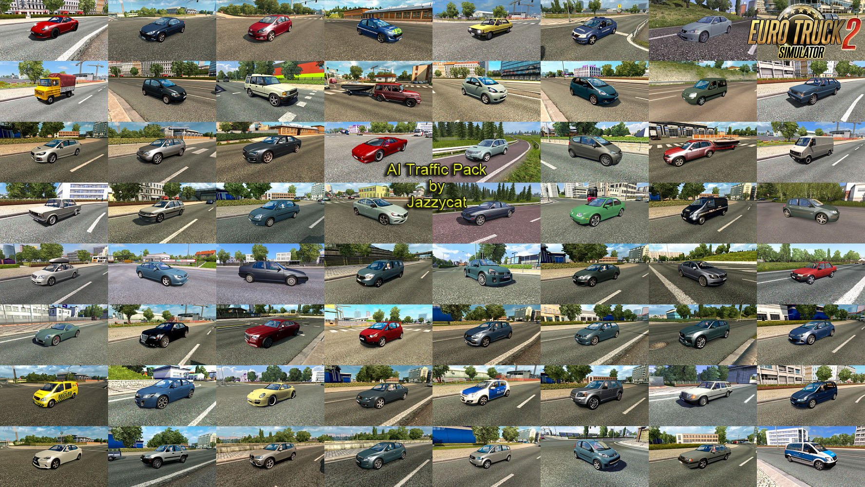 AI Traffic Pack v8.4 by Jazzycat (1.32.x)