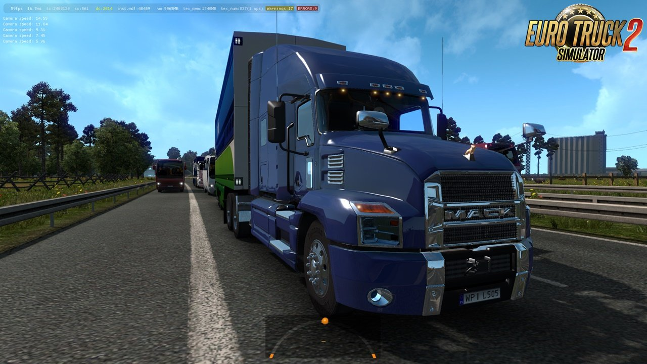 Mack Anthem 2018 in Traffic for Ets2 [1.32.x]