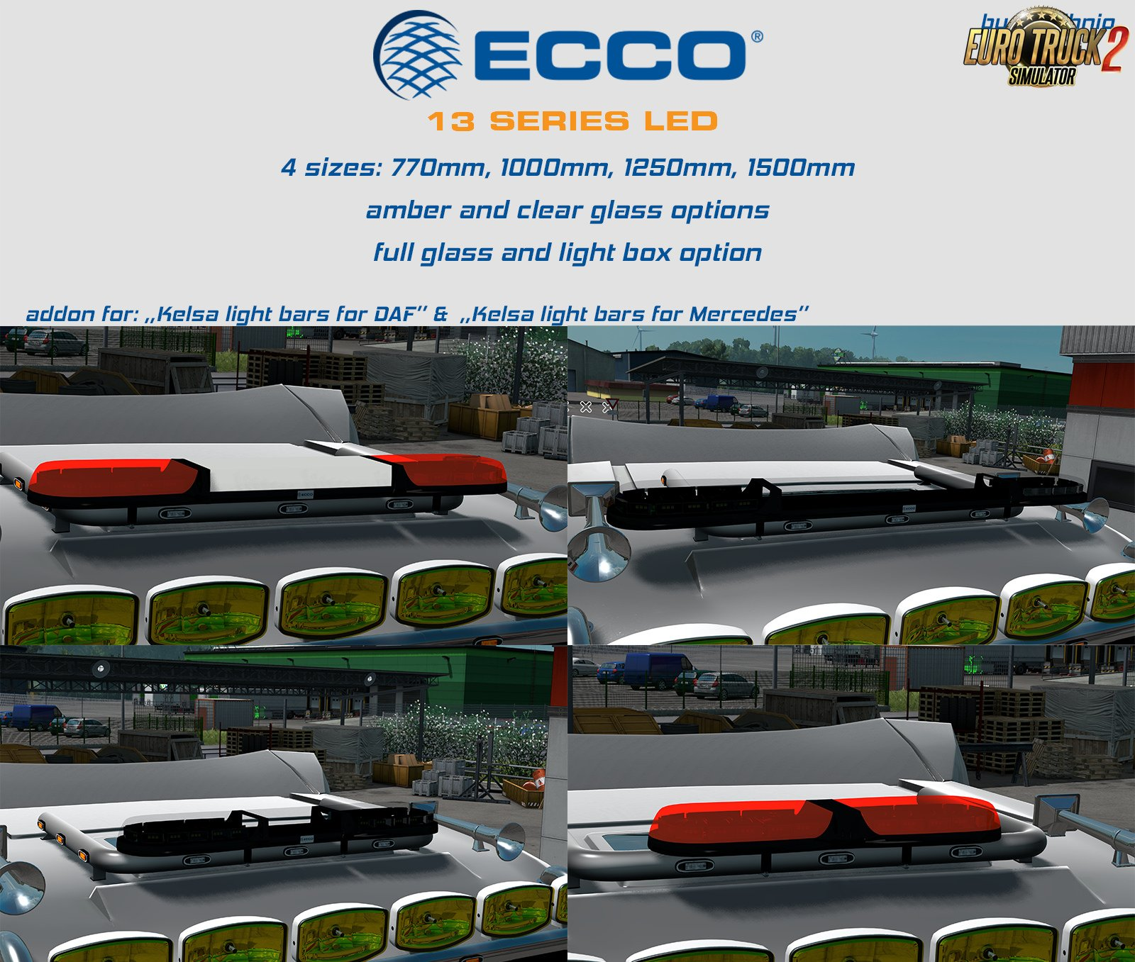 Ecco beacon bars add-on for: Kelsa lightbar packs by obelihnio v1.02