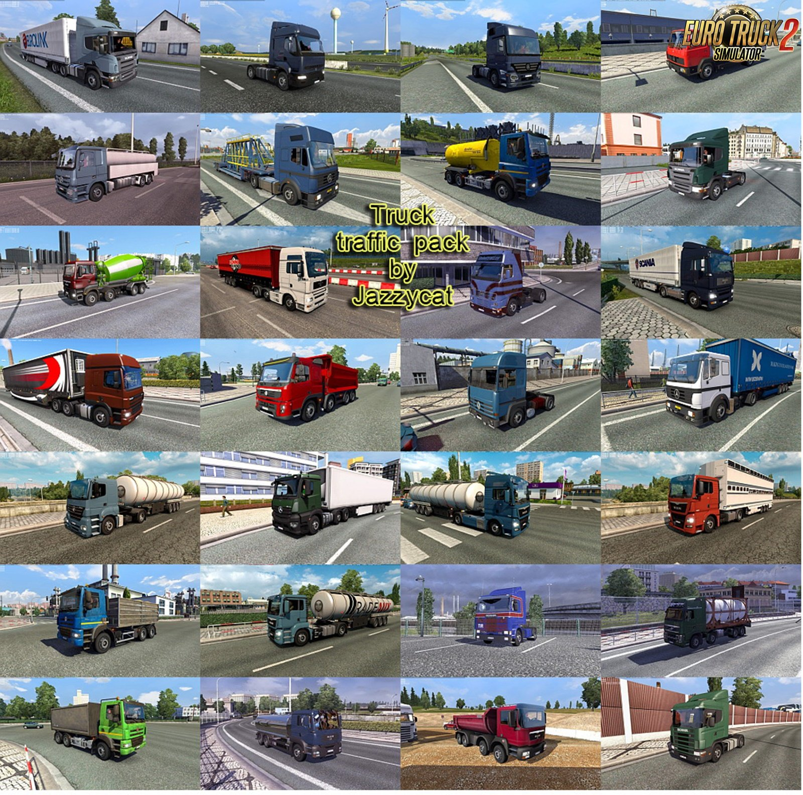Truck Traffic Pack v3.5.2 by Jazzycat (1.35.x)