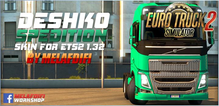 Skin Deshko Spedition for Volvo FH16 v1.0 (1.32.x)