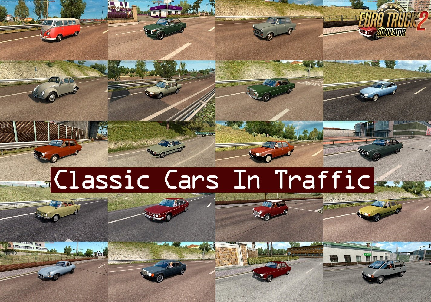 Classic Cars Traffic Pack v1.7 by TrafficManiac [1.32.x]