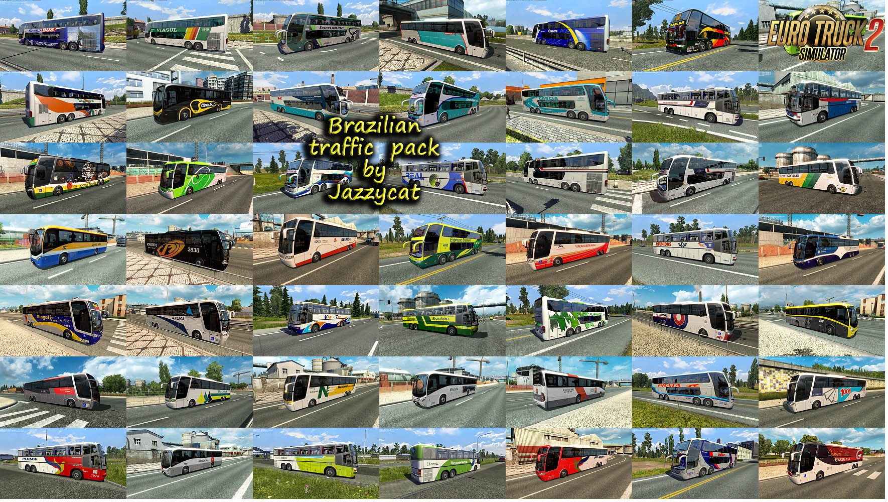 Bus Traffic Pack v8.3 by Jazzycat