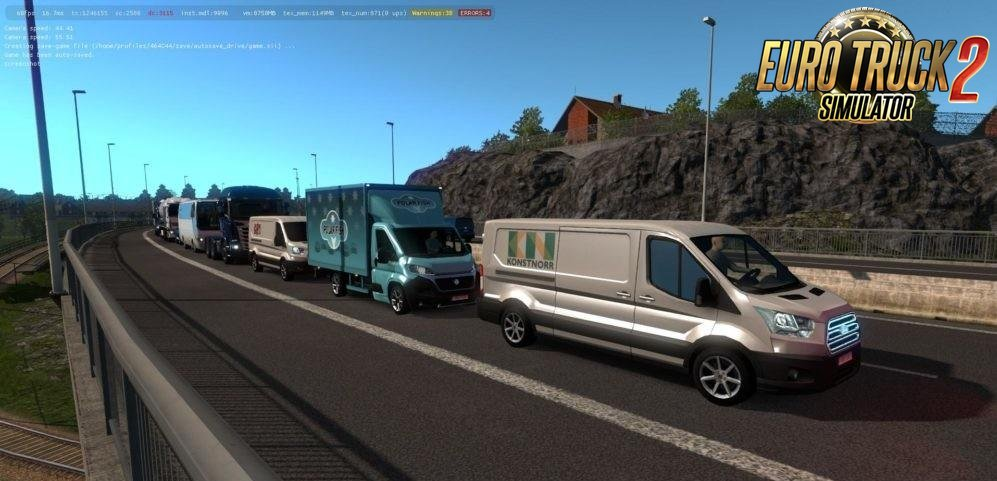 Mini Buses and Vans in AI Traffic for Ets2