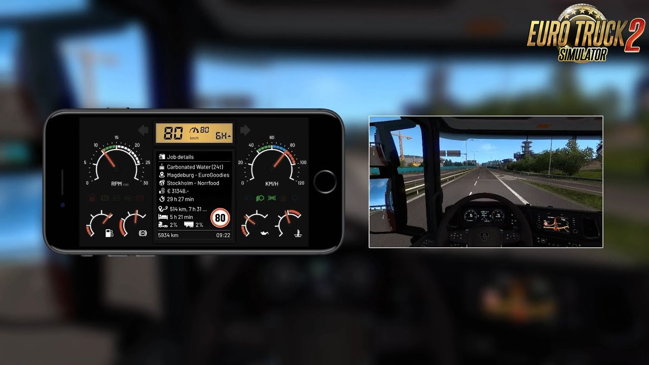 T Dashboard 3.0 (Mobile Dashboard Skin for ETS2 Telemetry Server)