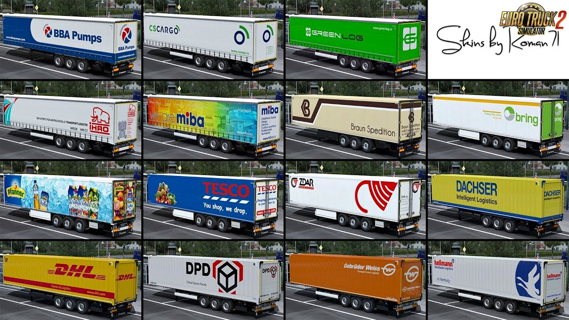 Krone DLC skin pack for Ets2