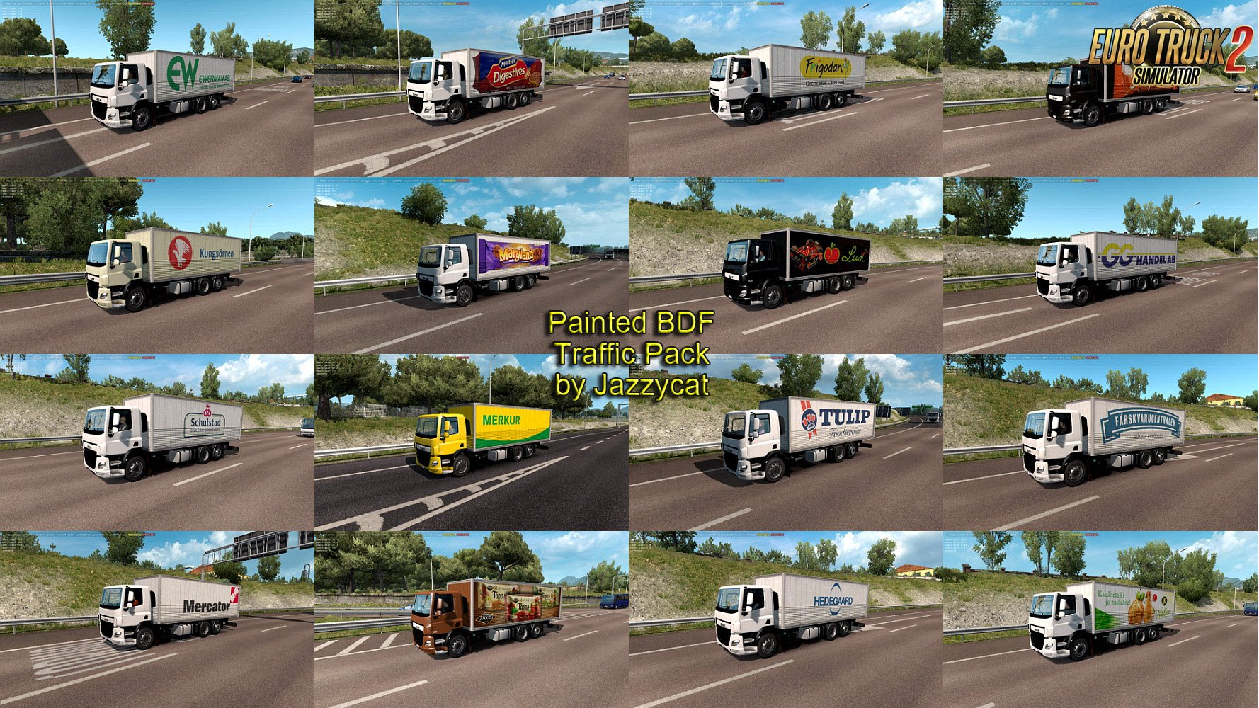 Painted BDF Traffic Pack v3.9 by Jazzycat