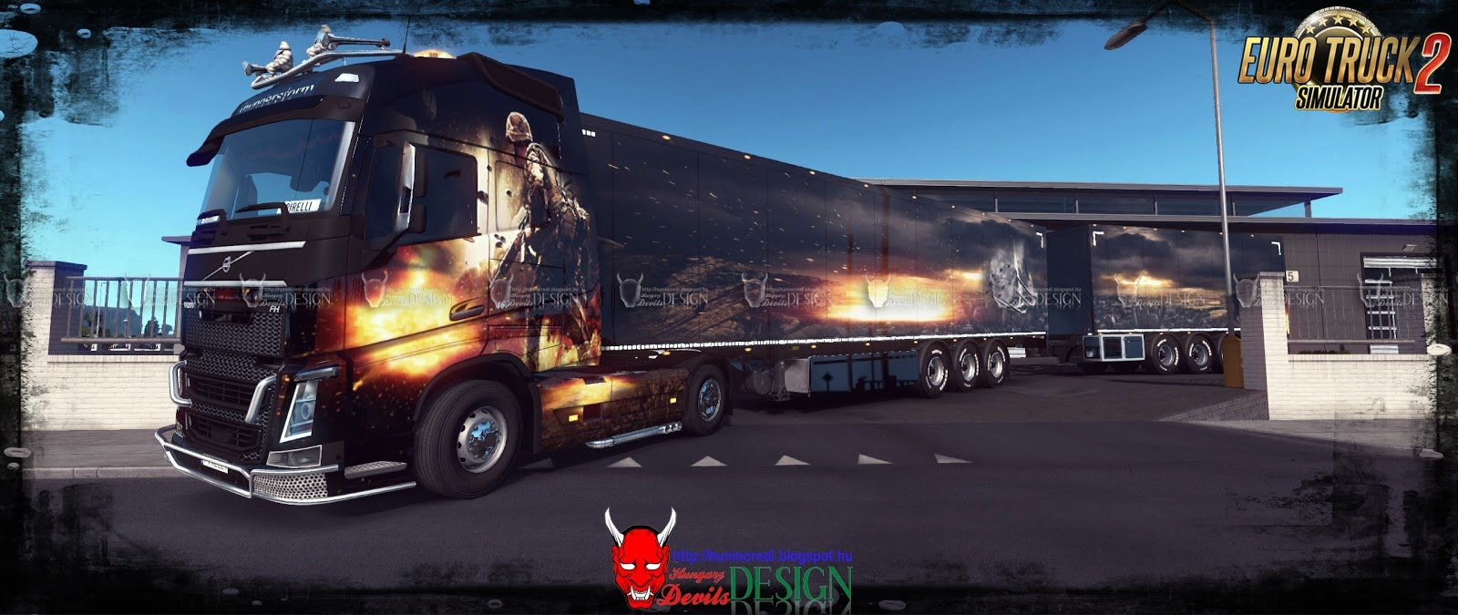 Thunderstorm Combo Skin for Volvo FH 2012 + Trailer v1.0 (1.32.x)
