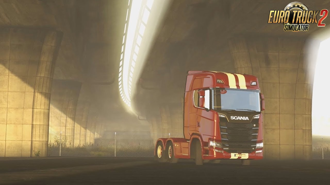 """Under the Bridge"" - Euro Truck Simulator 2 main menu background"