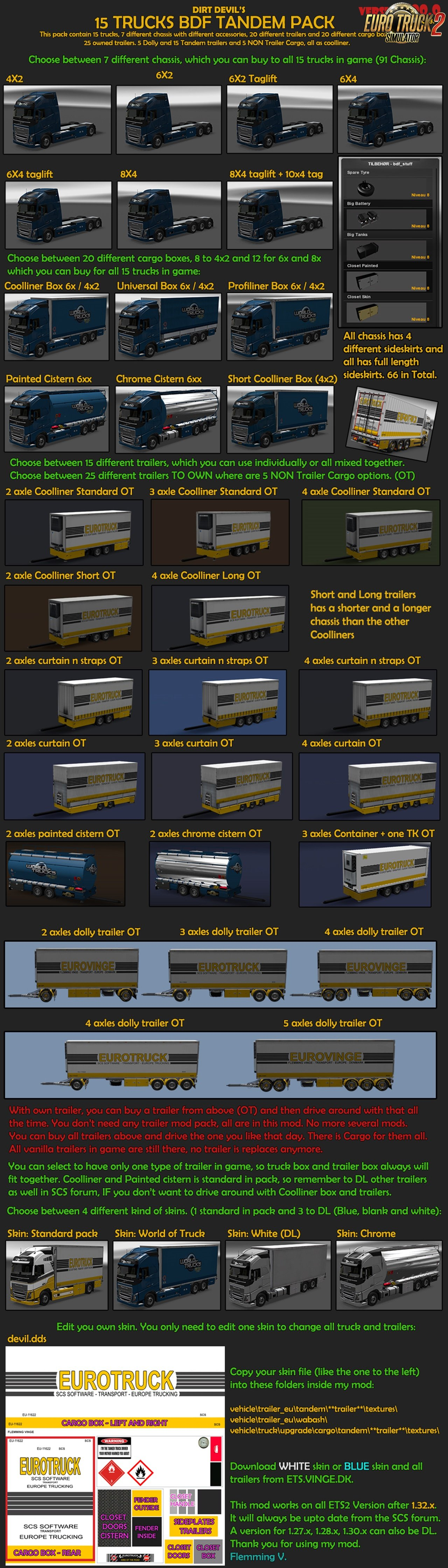 BDF Tandem Truck Pack v100.0 by Flemming V