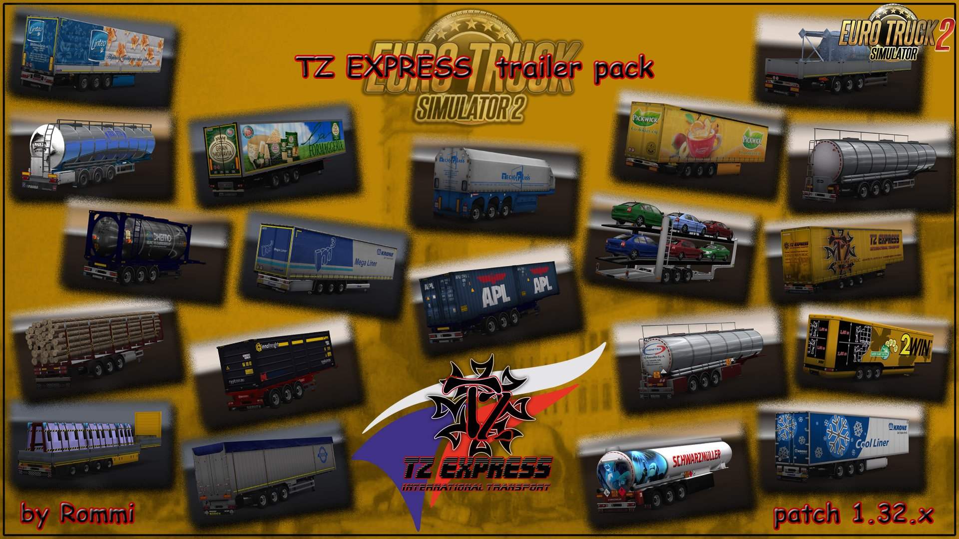 TZ Trailers pack for Ets2 (1.32.x)