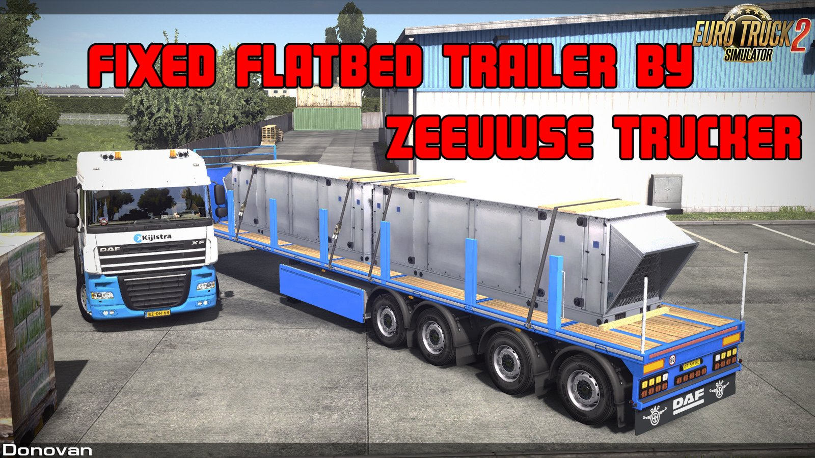 Fixed flatbed trailer by Zeeuwse T