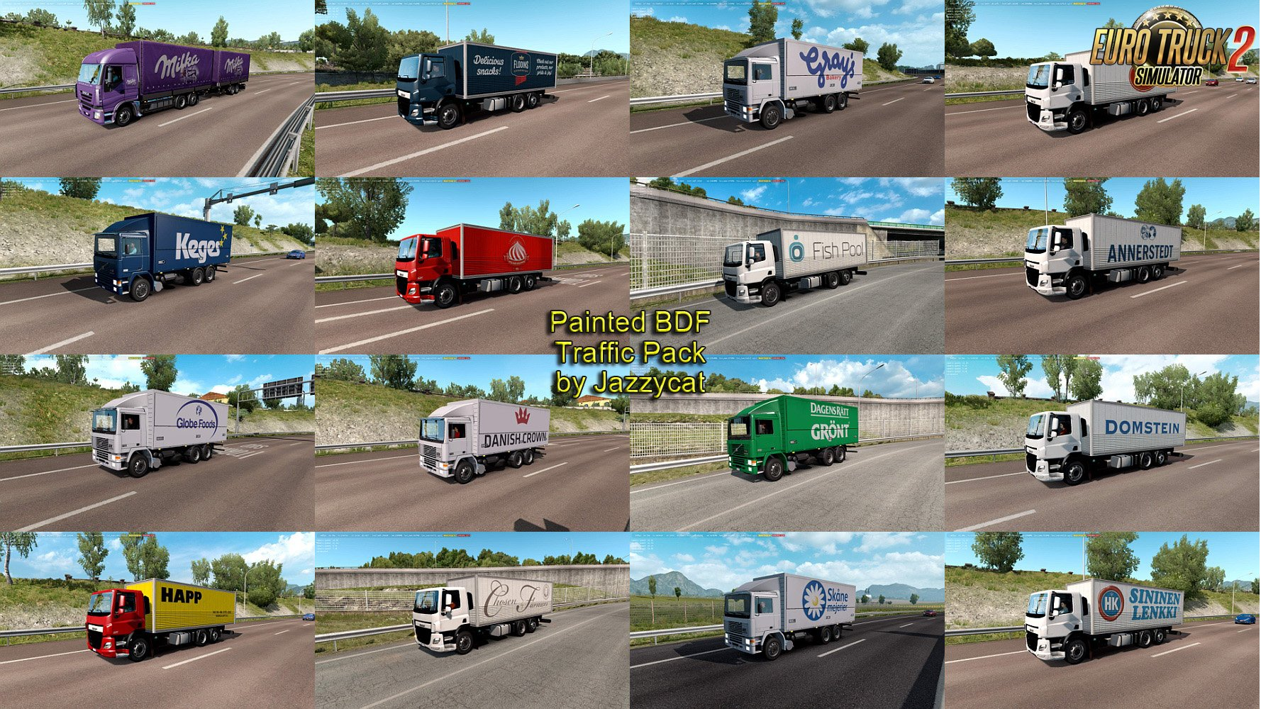 Painted BDF Traffic Pack v4.0 by Jazzycat