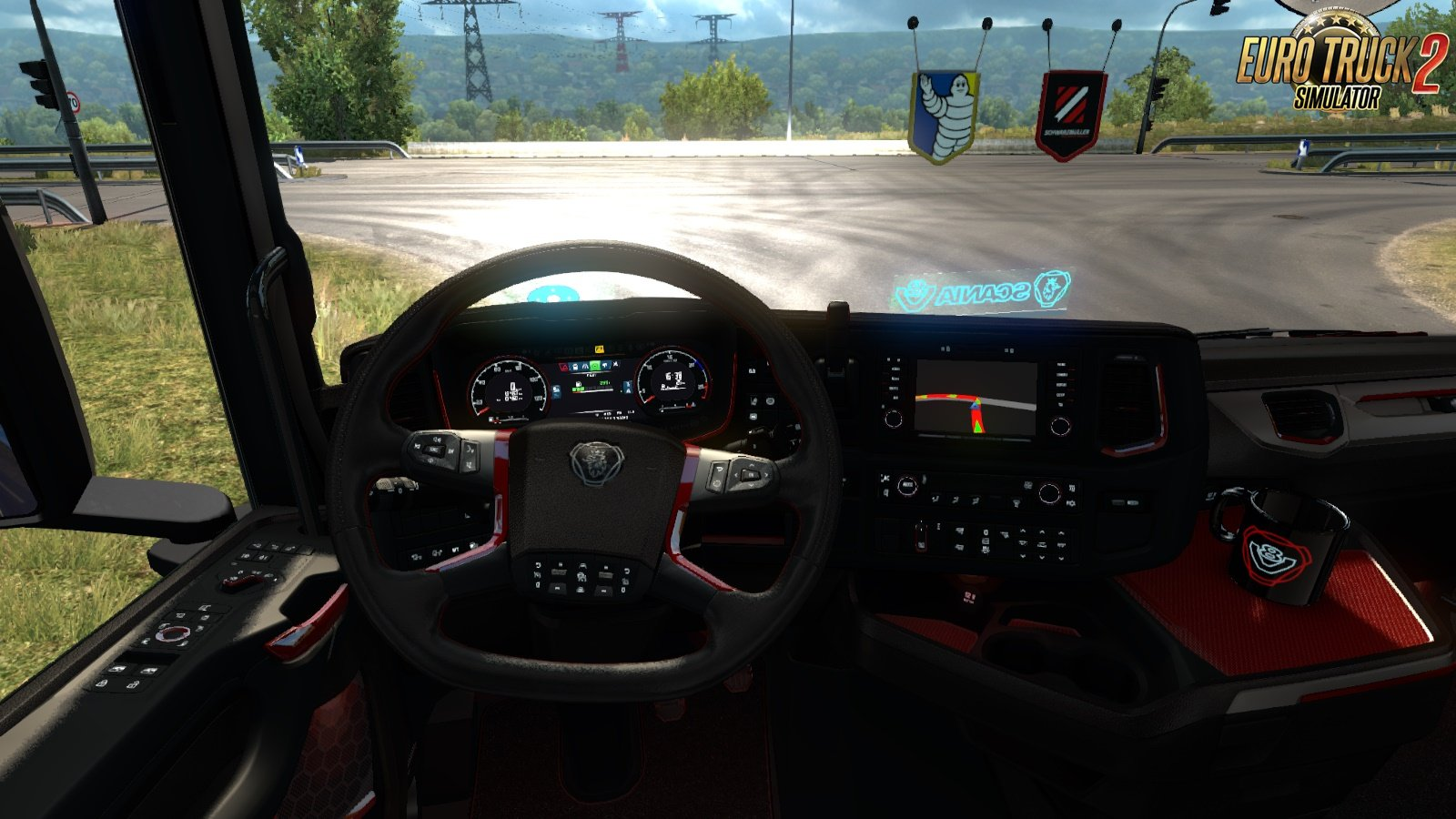 Scania 2016 S and R Red Black Interior [1.32.x]