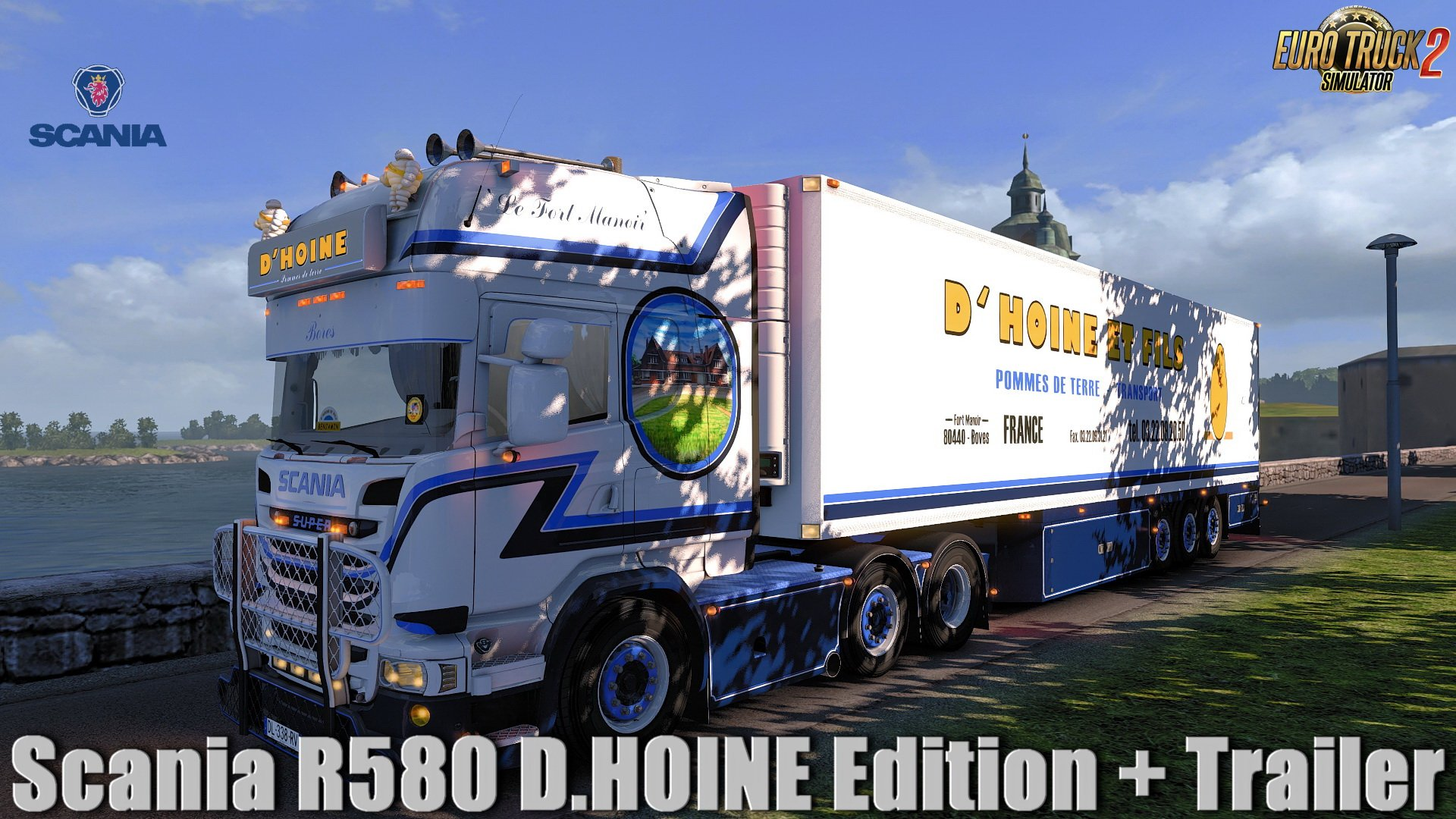 Scania R580 D.HOINE Edition + Trailer v1.0 (1.32.x)
